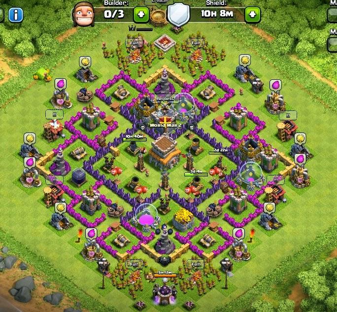Base th 8 coc yang punya mortar 4