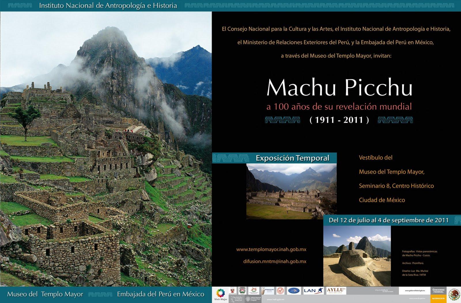 Exposición fotográfica Machu Picchu en México