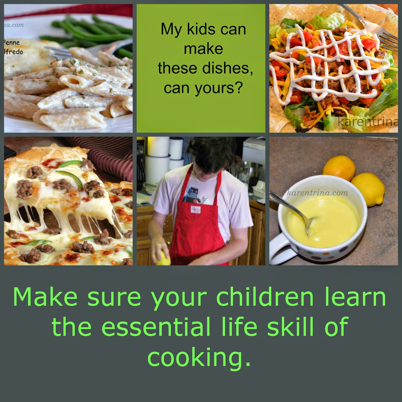 teach children to cook