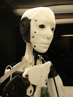 3D printed robotic head inmoov