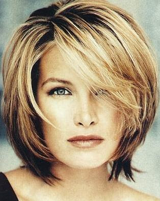 medium length hairstyles with bangs. shoulder length hairstyles