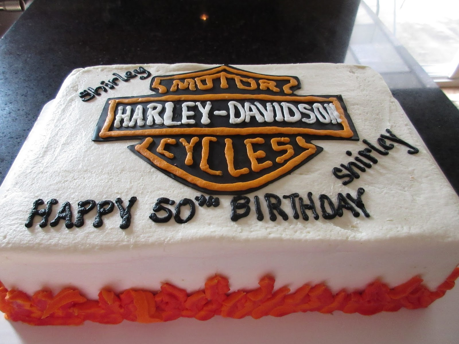 Harley Davidson Motorcycle Birthday Cake Cakes By Mary Ann