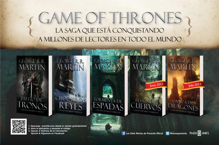 los 5 libros en español de Juego de Tronos.rar Torrent