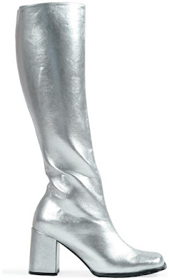 Silver Gogo Boots for Halloween