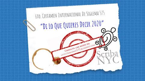 """6to. CERTAMEN INTERNACIONAL DE SIGLEMA 575 """"DI LO QUE QUIERES DECIR"""" 2019"""