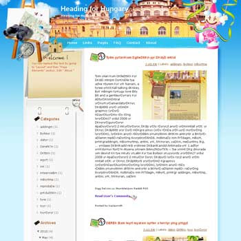 Heading for Hungary Blogger Template. free download template blogspot