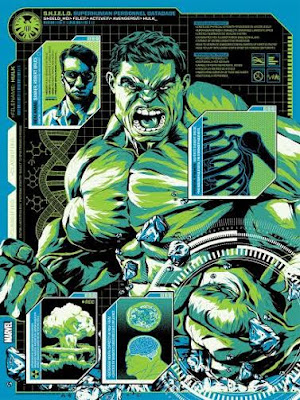 """The Hulk"" Marvel Screen Print by Anthony Petrie x Grey Matter Art"