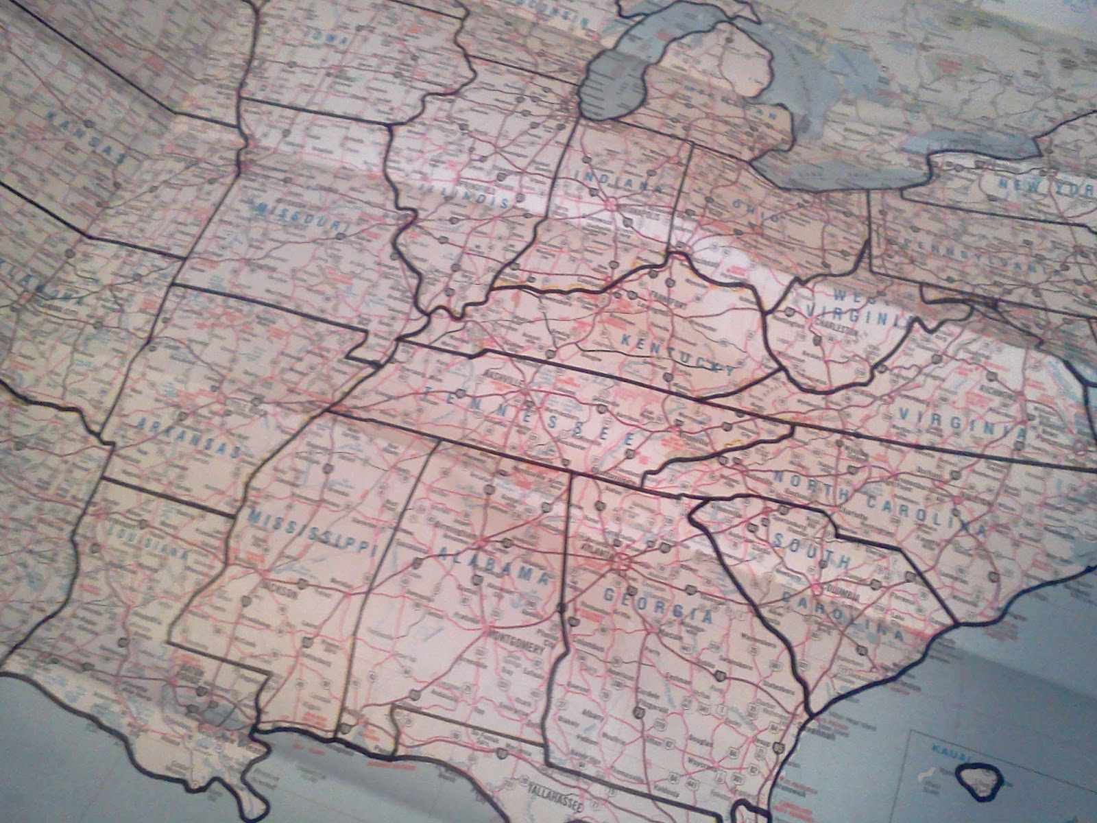 Crazy Old Ladies Quilts Project - Us state map quilt