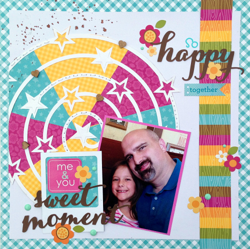 Sweet Moments Scrapbook Page by Christine Meyer Guest Designer for 17turtles Digital Cut Files
