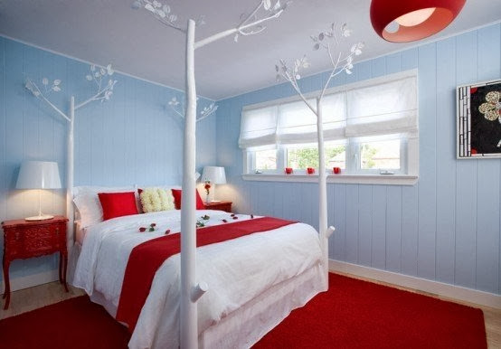 red bedroom rugs, red bedroom furniture, bedroom design ideas
