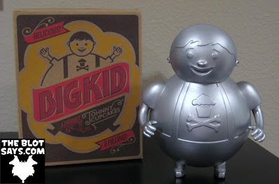 Unpainted Metallic Silver Big Kid Vinyl Figure by Johnny Cupcakes