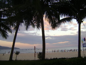 Sunset over Mỹ Khê beach