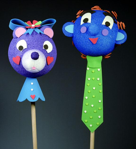Frog Puppet Craft Stick