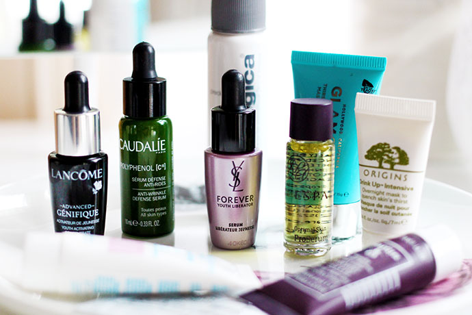 Beauty blogger Zoe Newlove shops her collection of samples including brands such as Sisley, Caudalie, Elemental Herbology and Lancer.