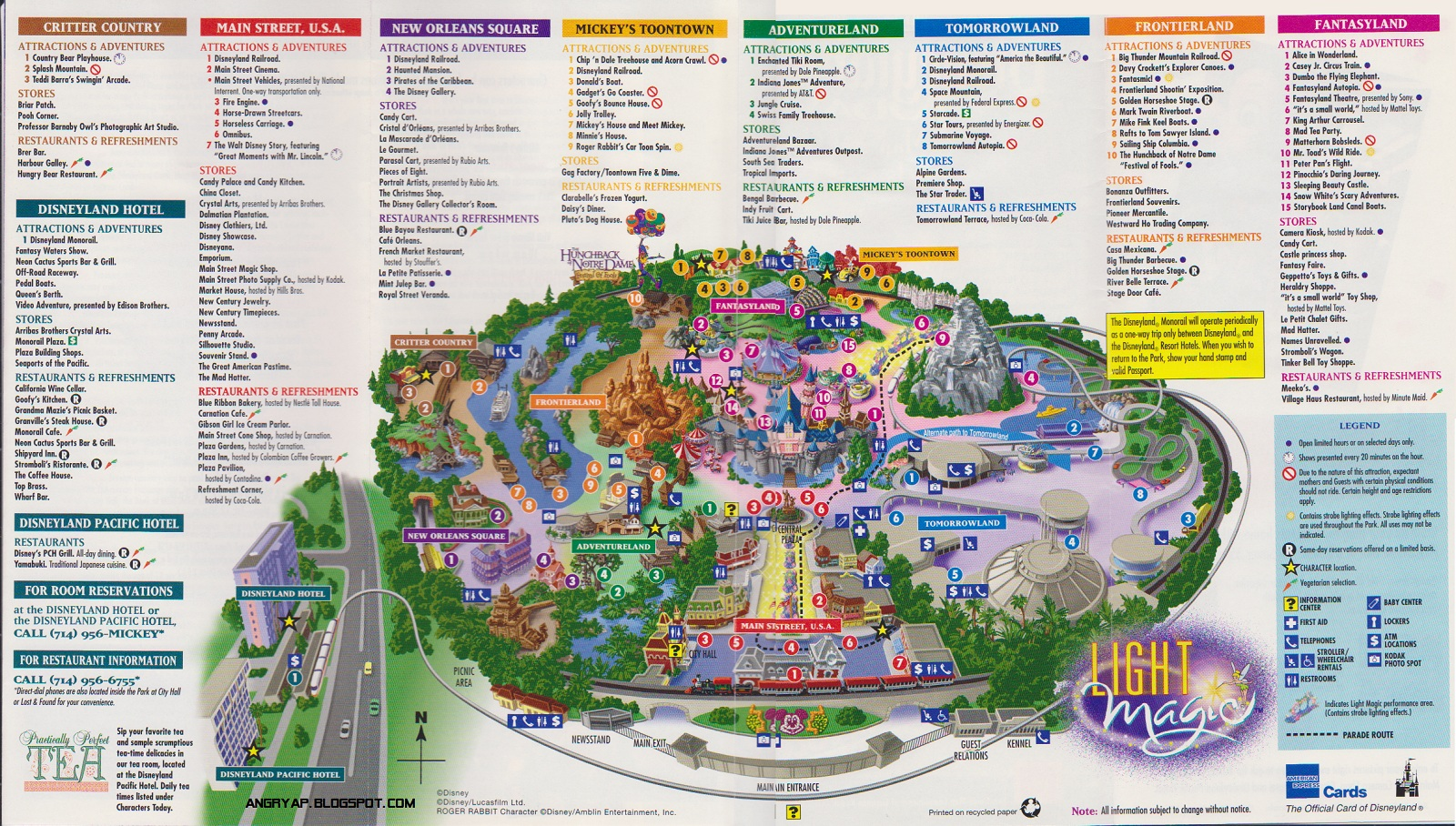 Angry ap disneyland and walt disney world nostalgia disneyland angry ap disneyland and walt disney world nostalgia disneyland guide map from 1997 publicscrutiny Images