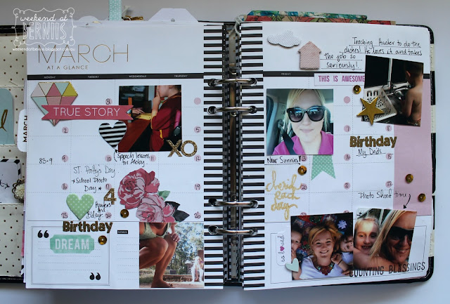 March planner pages by Bernii Miller using the Heidi Swapp planner. 2015.