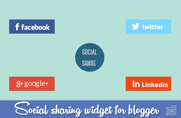 Light Box Social Sharing widget for Blogger