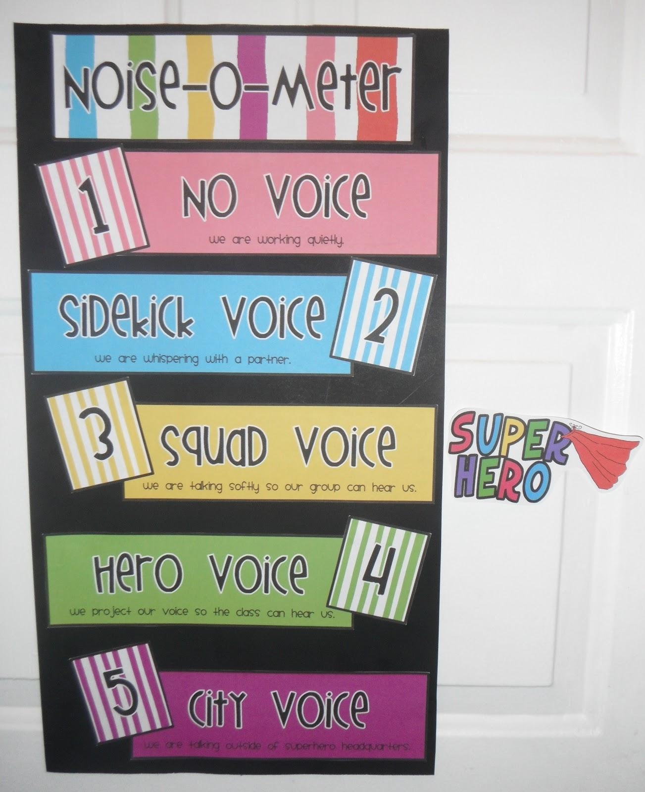 The Teaching Bug: Noise-O-Meter: Superhero Style!