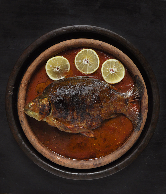 Baked carp for Saint Nicholas Day