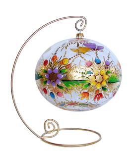esfera de navidad gigante pintada el leo