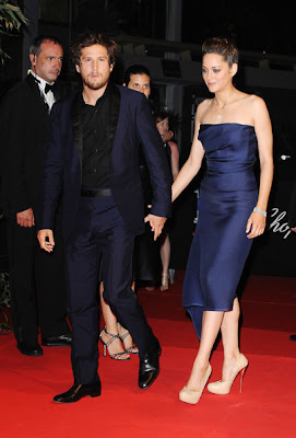 Marion Cotillard with Husband