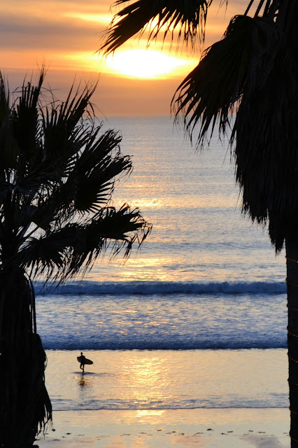 photo of surfer at pacific beach california by Nancy Zavada