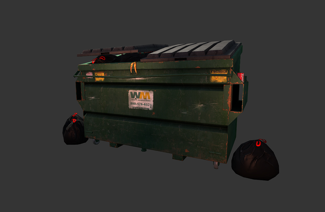 The 3D Art of Gabe Cervantes: dumpster textures progress