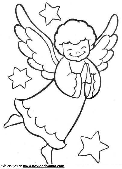 TODORECORTABLES SUEÑOS DE PAPEL: ANGELITOS PARA RECORTAR Y COLOREAR