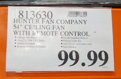 Deal for Hunter Granville 54 inch Ceiling Fan at Costco