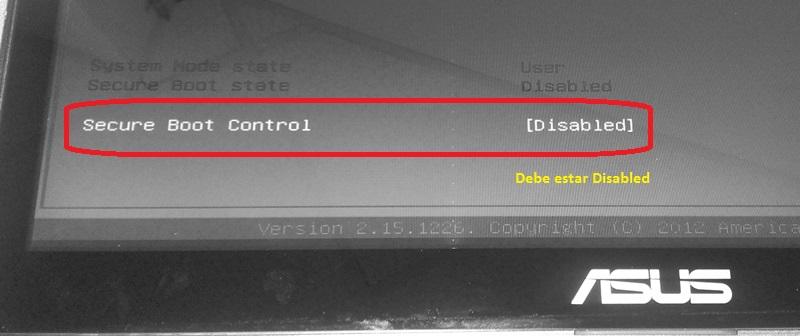 """Ahora ir a; menu Boot y habilitar la Opcion """" Launch CSM """""""