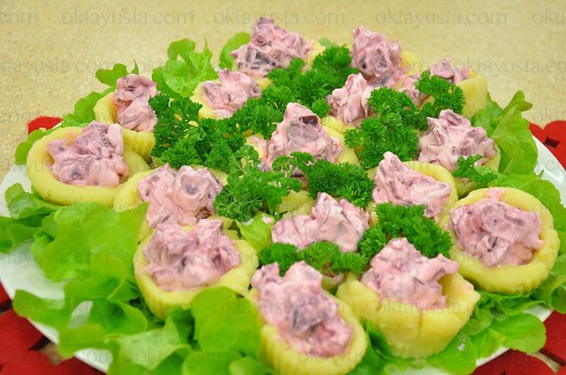 Mor Renkli Patates Salatası Tarifi Kolay Yapımı