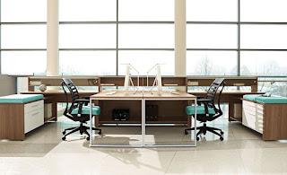 Modular Open Desking Configuration