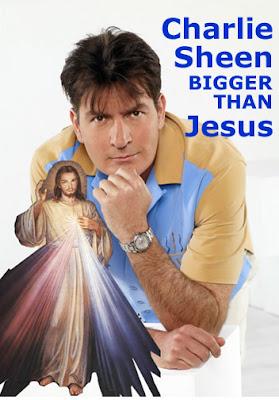Charlie Sheen Jesus,Charlie Sheen twitter,charlie sheen bigger than Jesus