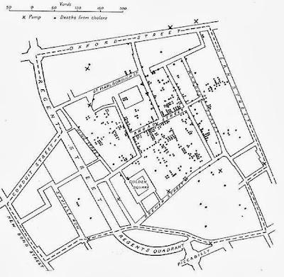 El Mapa del cólera por el Dr. John Snow (1813-1858)