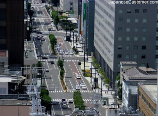 Streetview of a Japanese city