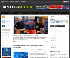 Press Week Blogger Template