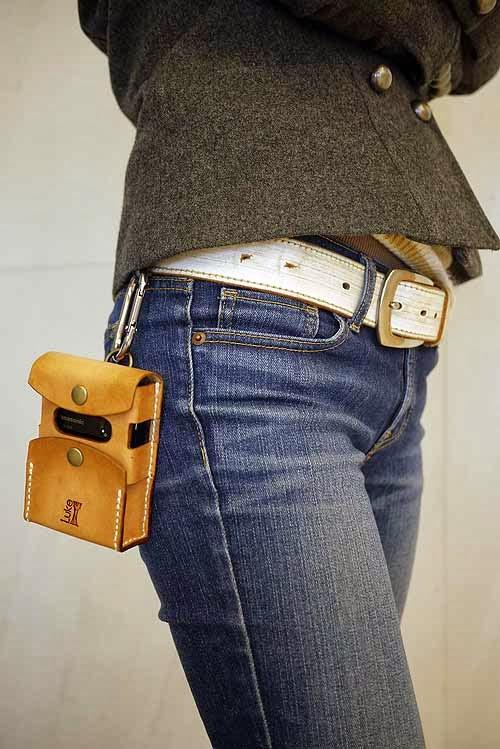 牛革 ハンドメイド モバイルバッテリー ポーチ 01 ナチュラル 国産栃木レザーを使用