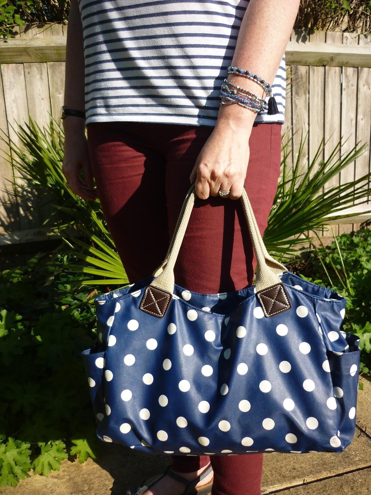 Ochre Skinny Jeans, Polka Dot Bag | Petite Silver Vixen