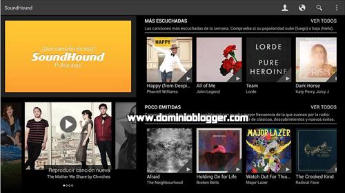 Descubre el nombre de las canciones con SoundHound para Android