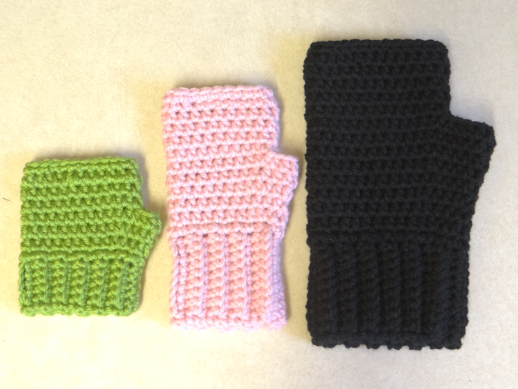 Two Little Cs: Simple Fingerless Gloves for the Whole Family