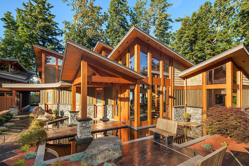 Luxury West Coast Contemporary Timber Frame Oceanfront Estate ...