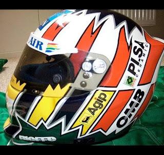 Il casco di Alexander Wurz ai tempi della Benetton