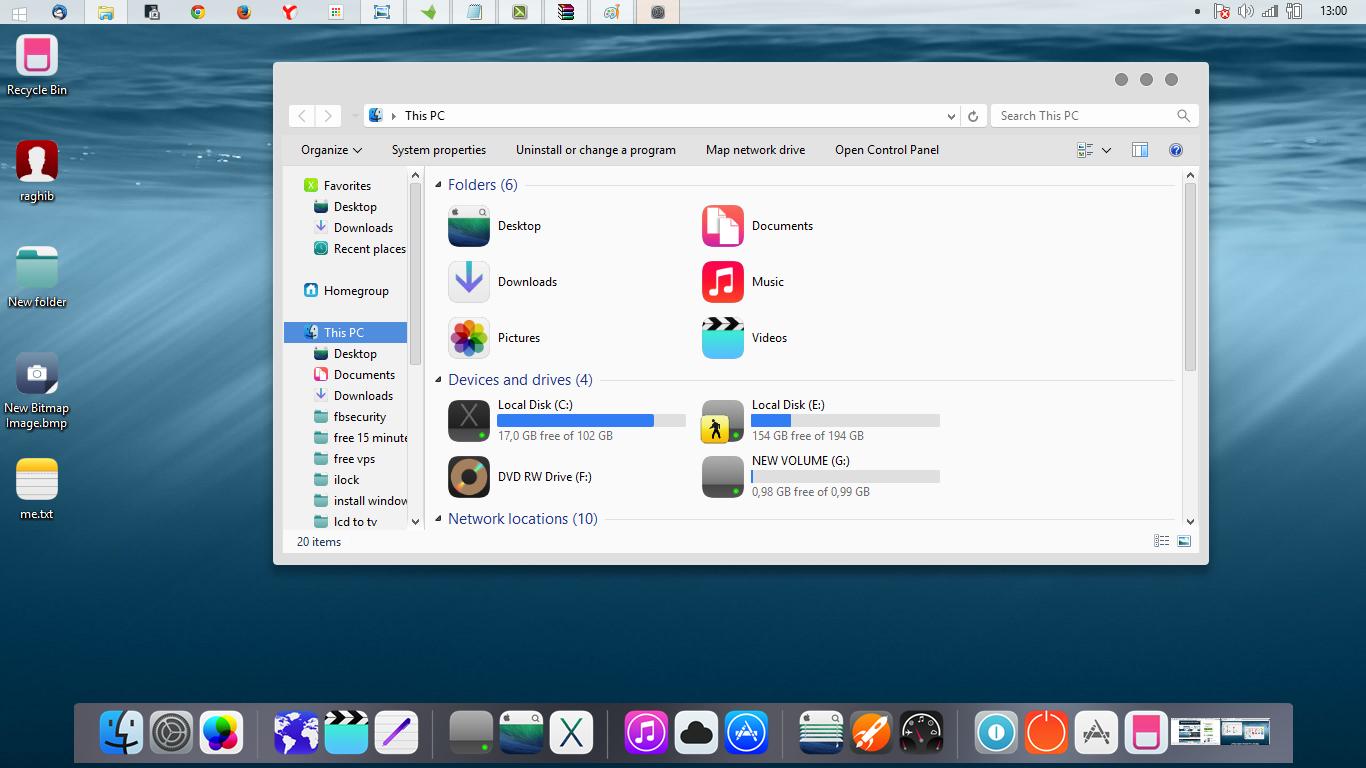حول شكل الويندوز إلى IOS 8.0 الذي صدر حديثا من آبل