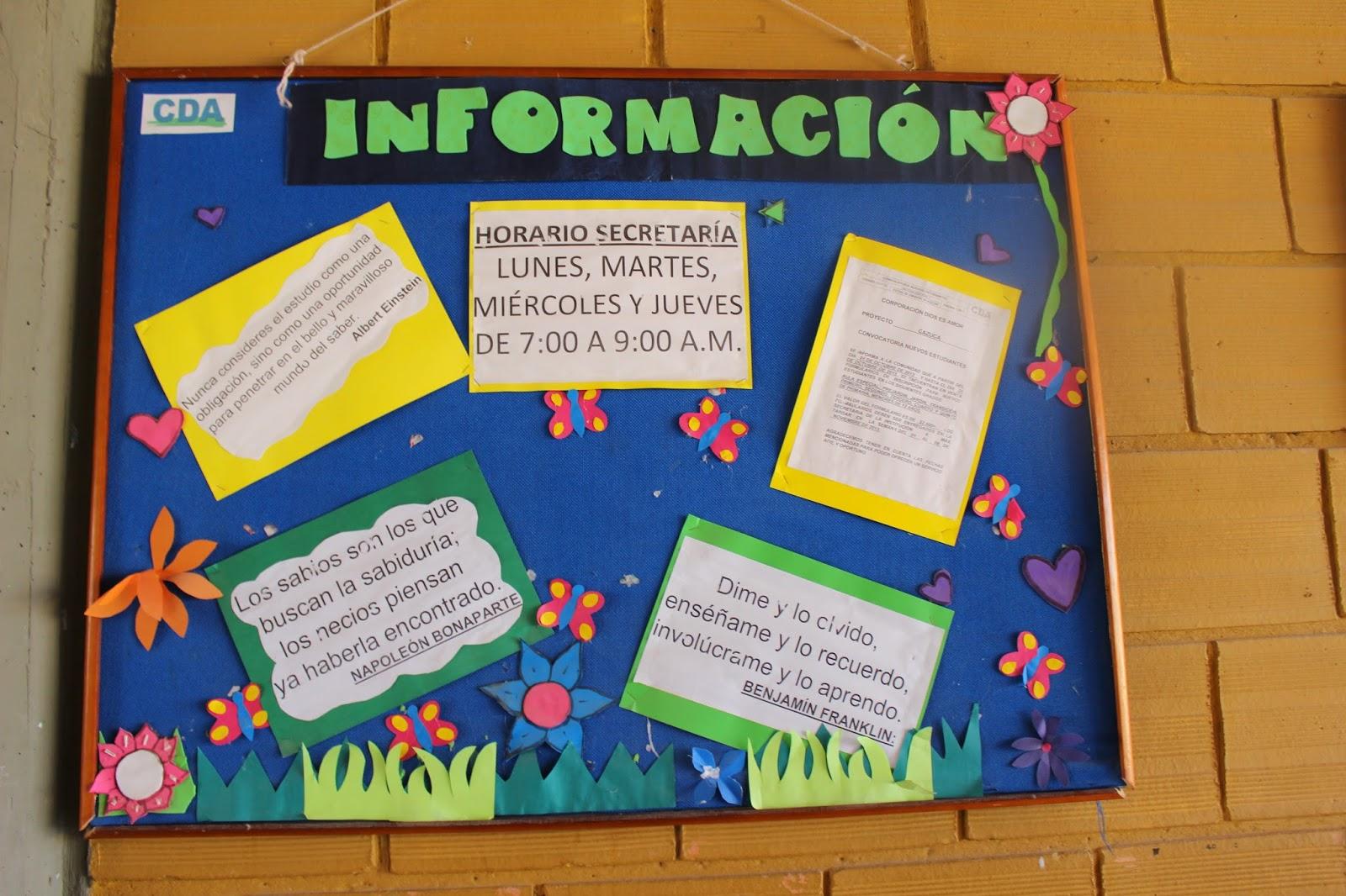 Modelos de carteleras actuales cartelera ejemplos de for Modelos de carteleras informativas