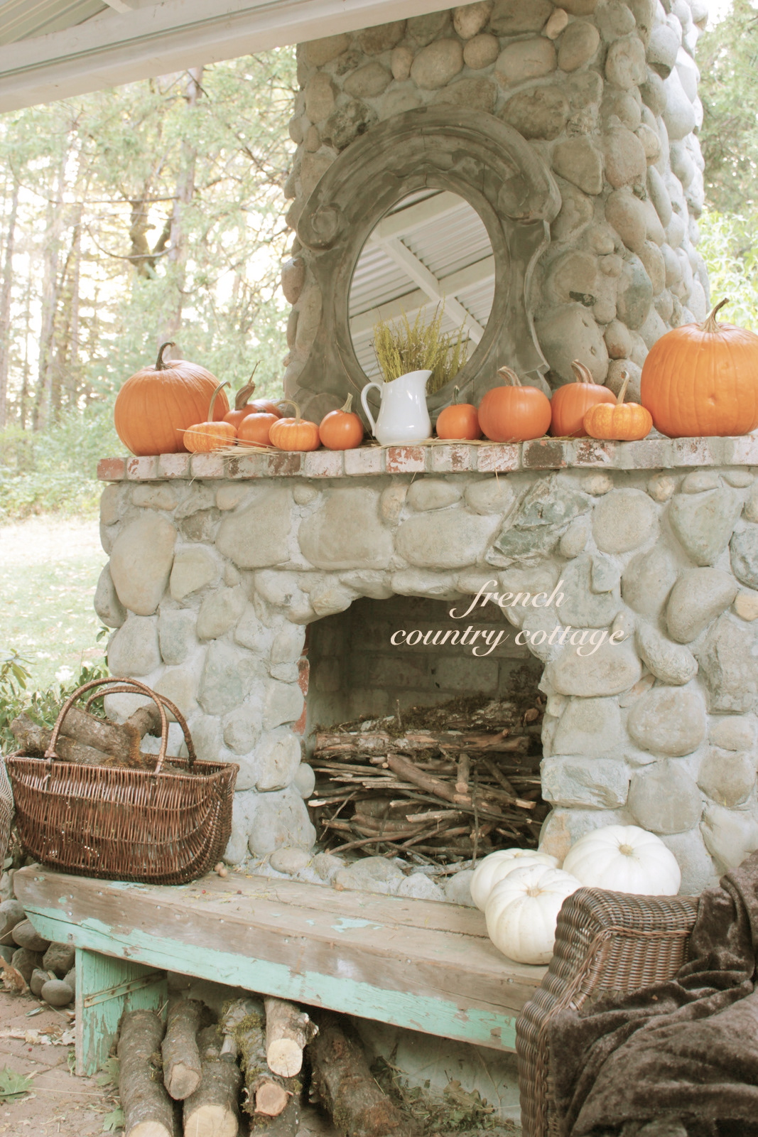 A Few Pumpkins French Country Cottage