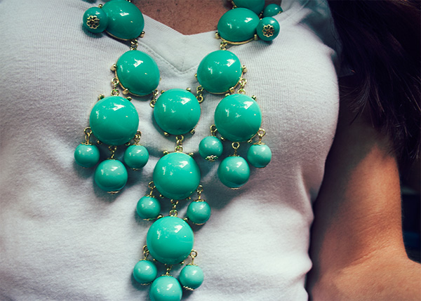 Our World Boutique Mint Bubble Necklace