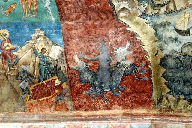 """Detalle de """"El Juicio Final""""- Monasterio de Voroneţ"""