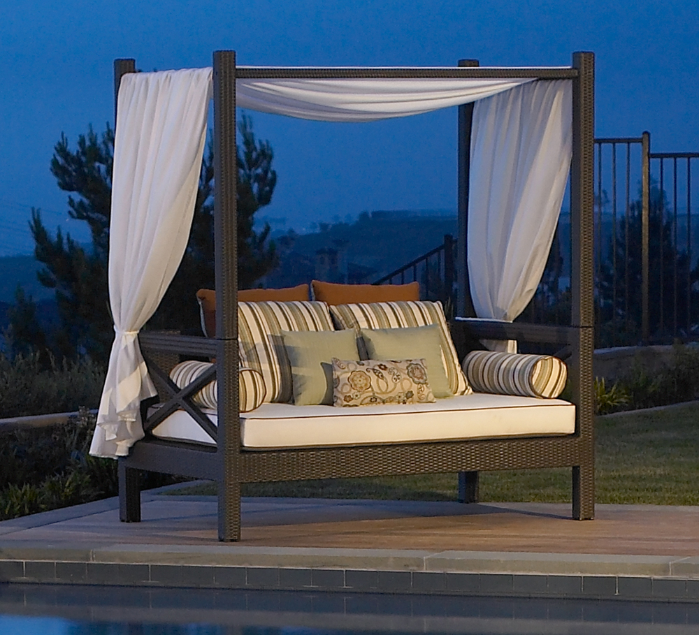 Barefoot and beautiful daybed delights Outdoor daybed with canopy
