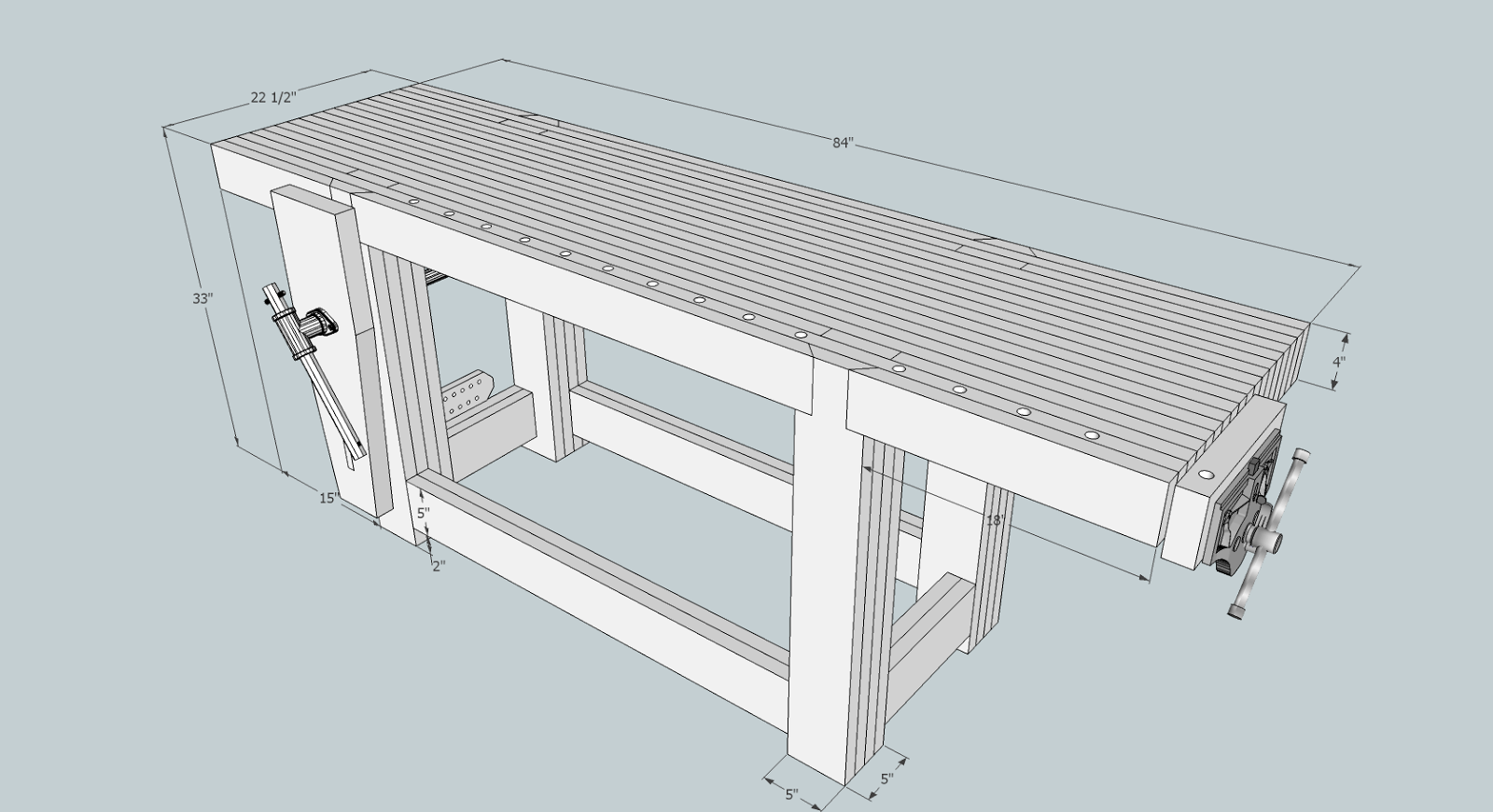 Below is a sketchup model of my interpretation customized to fit the ...