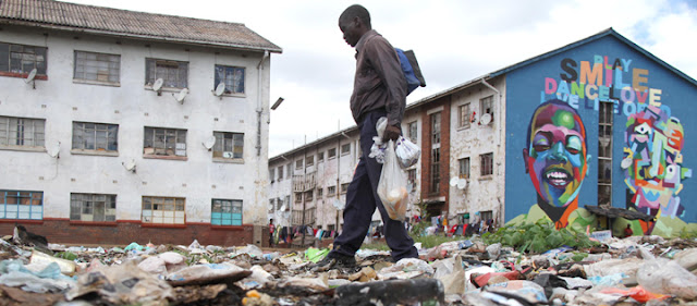 Zimbabwe today after White farmers were expropriated